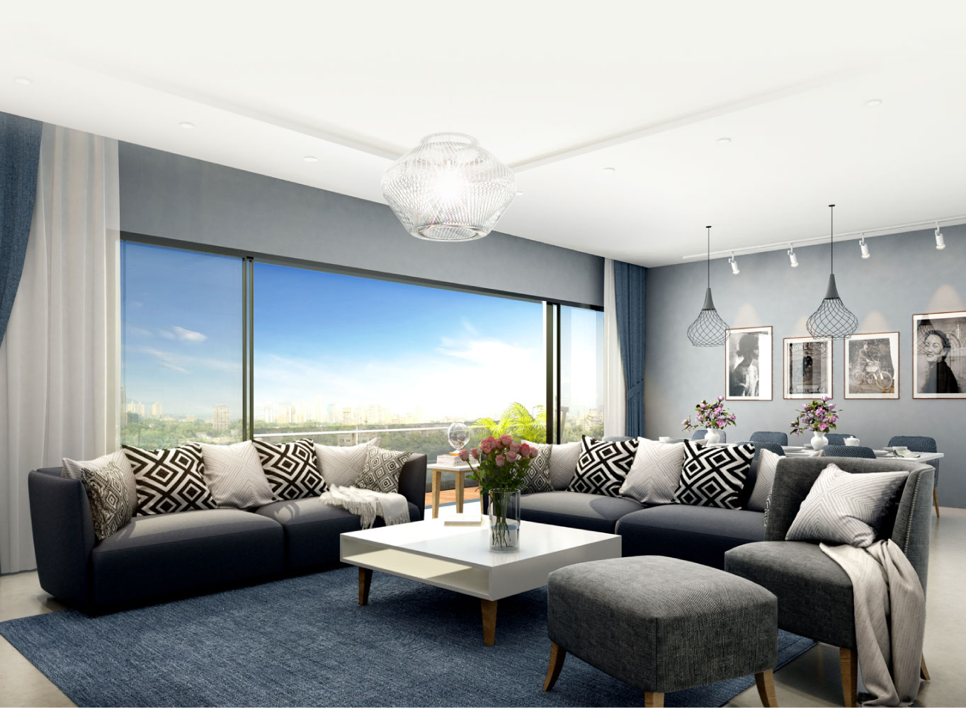 Monte Carlo living room render